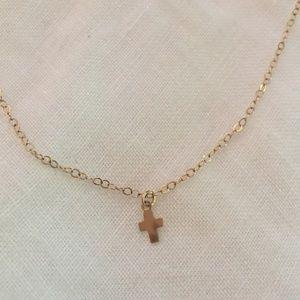 Jewelry - Minimalist  |  tiny cross necklace